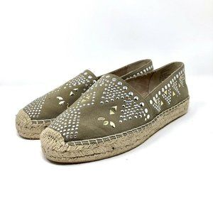 White Mountain Studded Jute Canvas Shoes Size 9.5